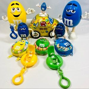 Lot 11 Mixed M&M's Candy Collectibles